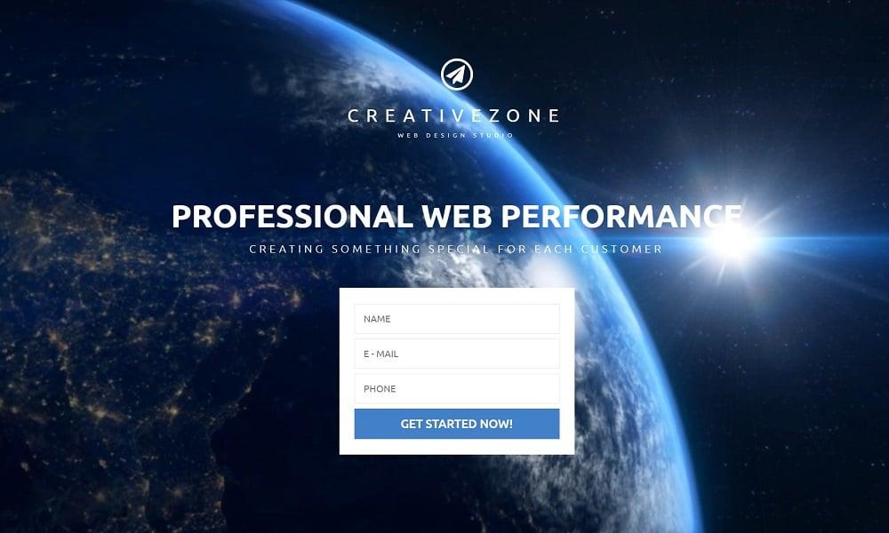 Design Studio Free Landing Page Template Landing Page Template