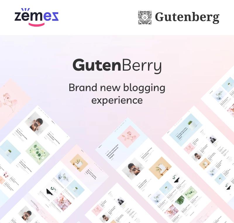 Gutenberry - Clean Blog WordPress Theme for Gutenberg editor