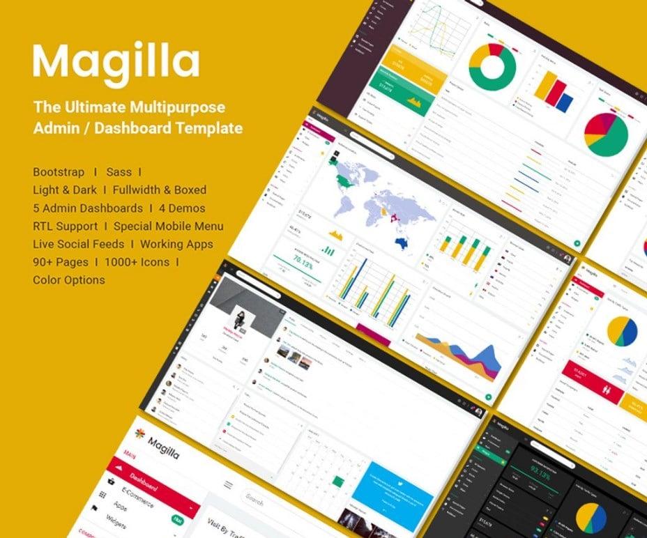 MAGILLA - THE ULTIMATE MULTIPURPOSE ADMIN TEMPLATE