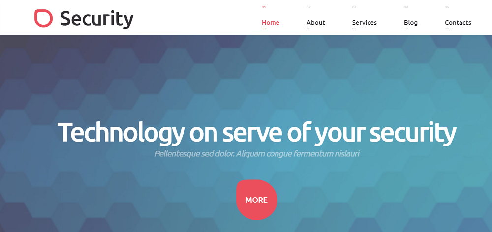 Security Technology WordPress Theme