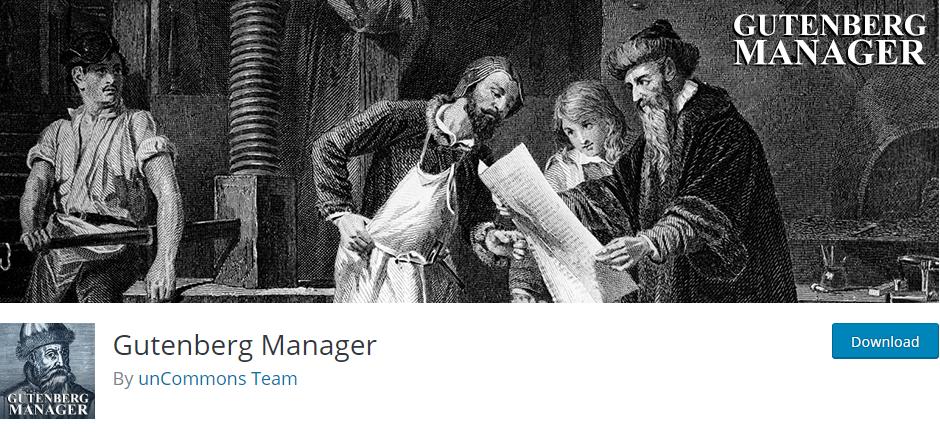 Gutenberg Manager - WordPress Plugin