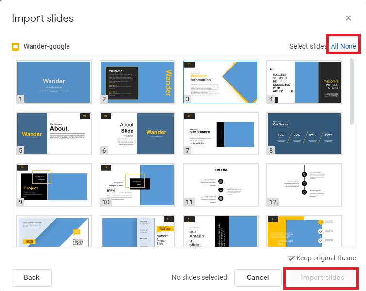 choose slides