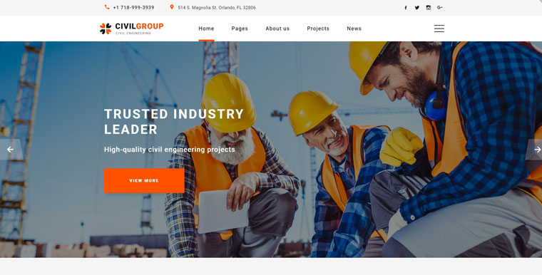 Civil Group - Construction Company Multipage Modern HTML Website Template.