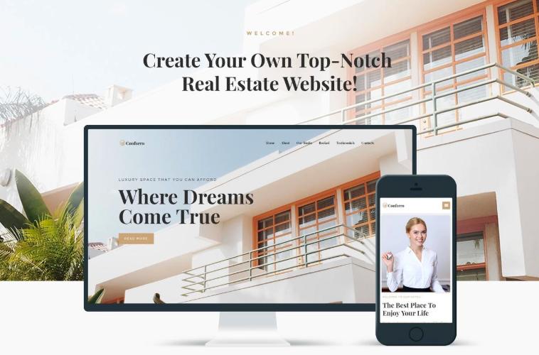 Conforro - Real Estate Elementor WordPress Theme