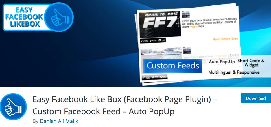 Easy Facebook Like Box