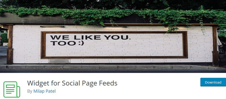 Widget for Social Page Feeds.