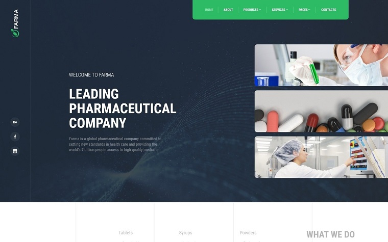 Farma - Pharmacy Multipage Clean Bootstrap HTML Website Template.