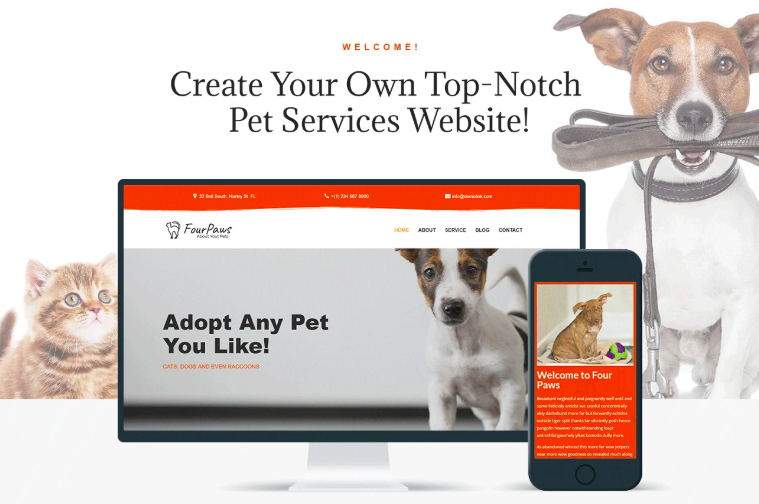 Four Paws - Pet Services Multipurpose Classic Elementor WordPress Theme