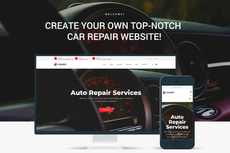 Goager - Auto Repair ECommerce Modern Elementor WordPress Theme