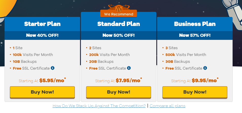 HostGator WooCommerce Plans