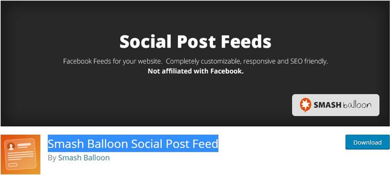 Smash Balloon Social Post Feed.