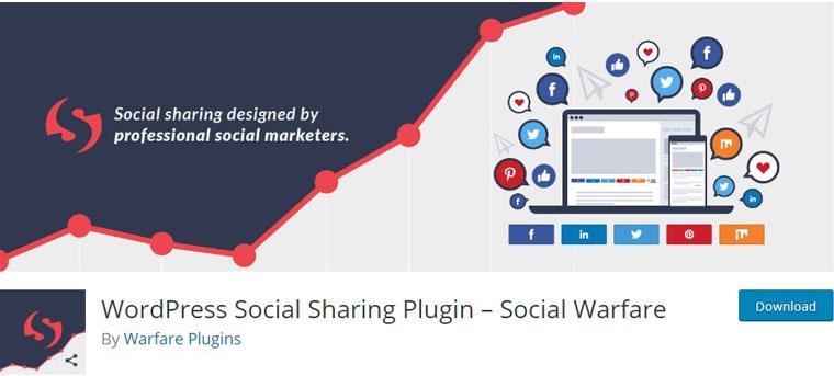 WordPress Social Sharing Plugin – Social Warfare.