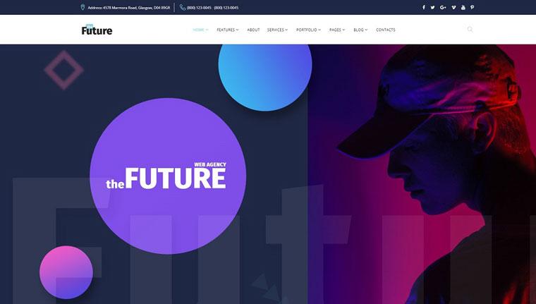 The Future - Web Design Multipurpose HTML5 Website Template.