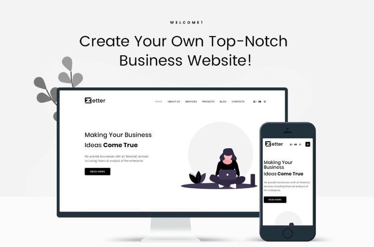 Zetter - Business Multipurpose Black & White Elementor WordPress Theme