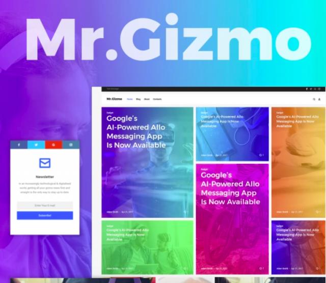 Mr. Gizmo - Responsive Technology & Gadgets Blog WordPress Theme