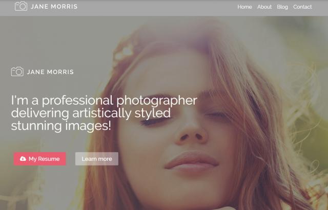 Photographer Portfolio Free WordPress Theme WordPress Theme