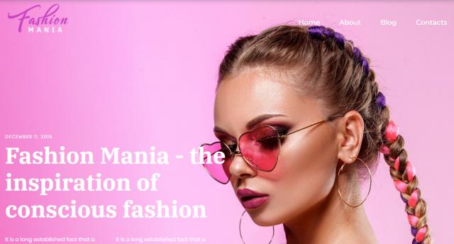 Fashion Mania - Easy WordPress Theme WordPress Theme