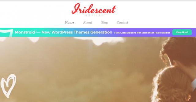 Iridescent - Wedding Album Free WordPress Theme