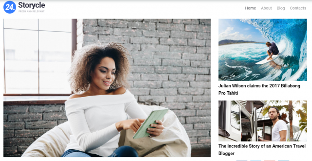 24.Storycle lite - Multipurpose News Portal Elementor WordPress Theme