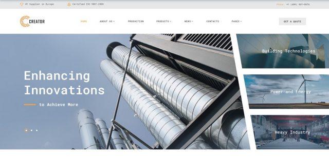 Creator - Civil Engineering Multipage Website Template