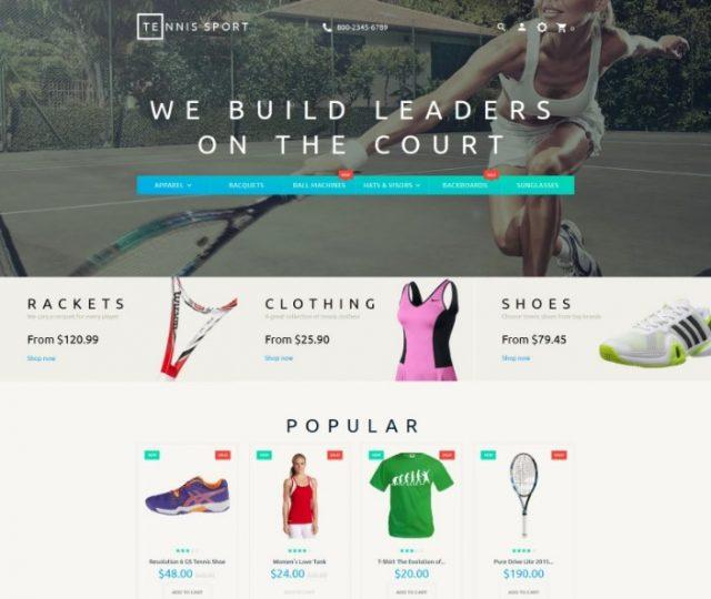 Tennis Sport PrestaShop Theme
