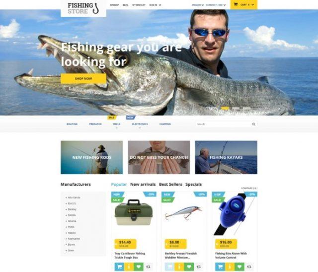 Fishing Store PrestaShop Theme