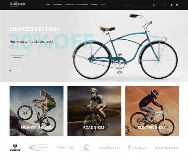 4Rover - Bike Store PrestaShop Theme