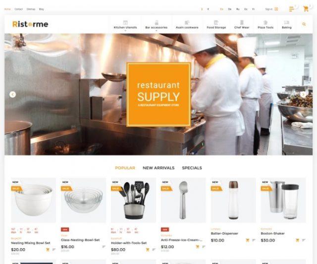 Ristorme - Restaurant Equipment & Houseware PrestaShop Theme