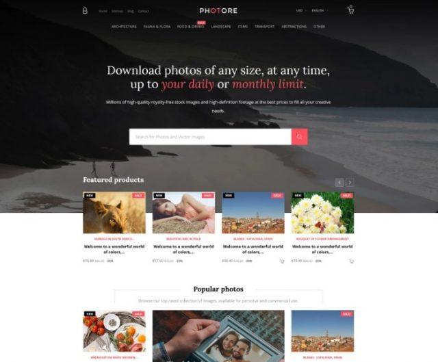 Photore - Stock Photo PrestaShop Theme