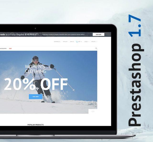 Sportek - Winter Sports Equipment Store Free PrestaShop Theme
