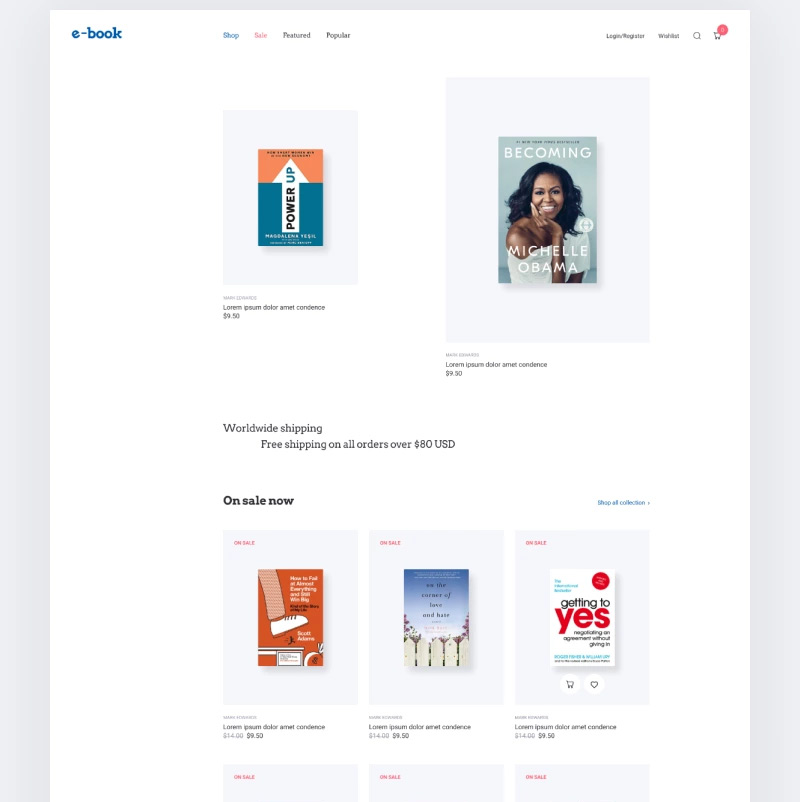 E-book - e-book website theme with widgets for Elementor WooCommerce Theme