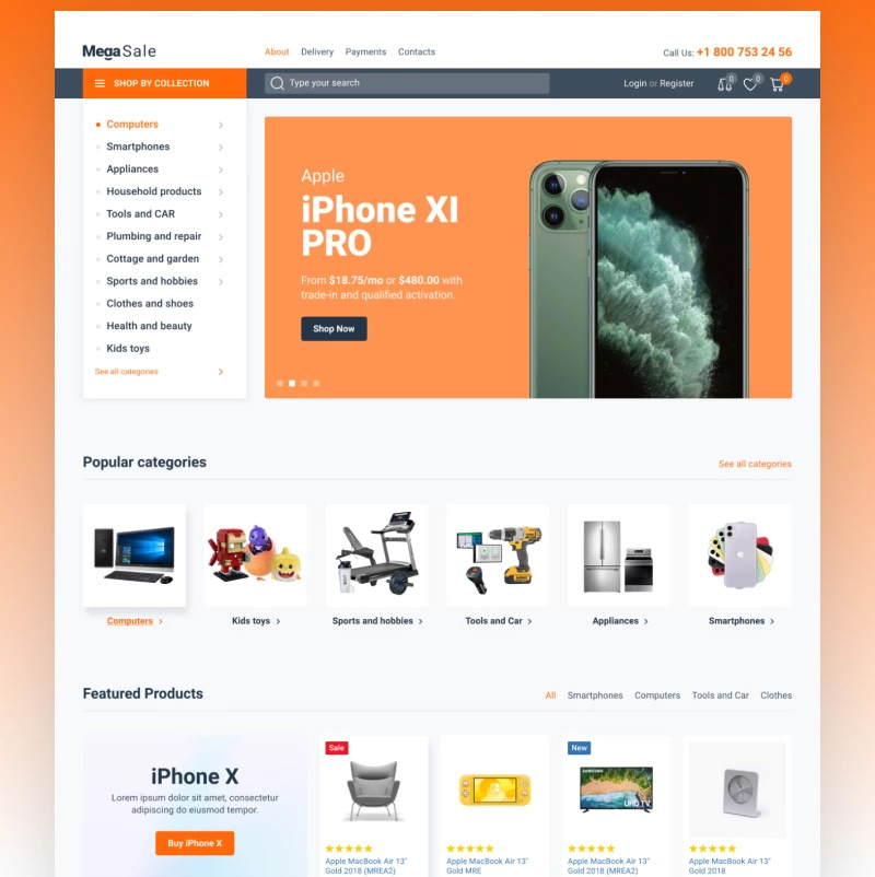 To address the demands of an Internet supermarket, the expert designers devised MegaSale, one of the best WordPress themes for ecommerce. It will assist you in selling a wide variety of goods in one place, which is very convenient, smart, and modern. The main benefits of this WordPress shopping theme are easy installing and editing, JetPlugins that simplify and extend all the processes, bonus stock images for commercial or personal purposes, and others.Main features:WooCommerceSEO-friendlyFully responsiveElementorOptimized codingVisual editorPop-up managerCross-browser compatible24/7 support team