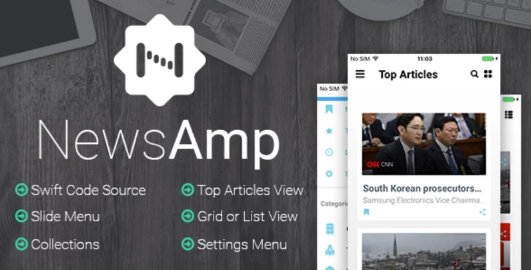 NewsAmp - Swift News App Template