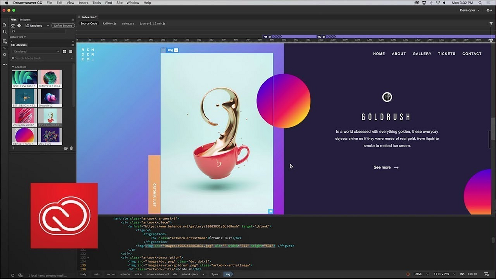 Dreamweaver website builder