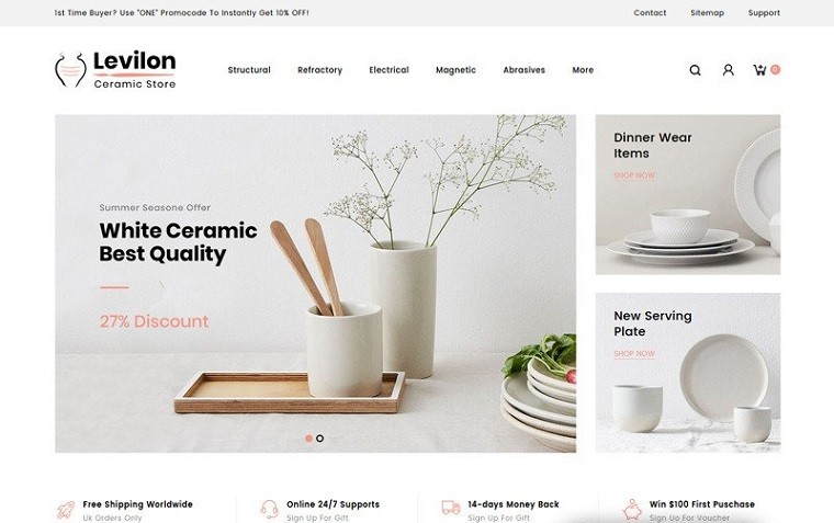 Levilon Ceramic Store is an Ideal Solution for Internet Business