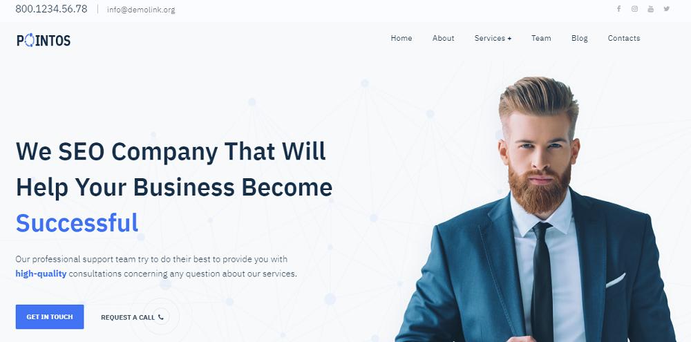 Pointos - SEO Consulting Multipurpose Modern Elementor WordPress Theme