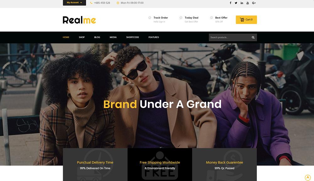 Realme Multipurpose - Responsive WooCommerce Theme