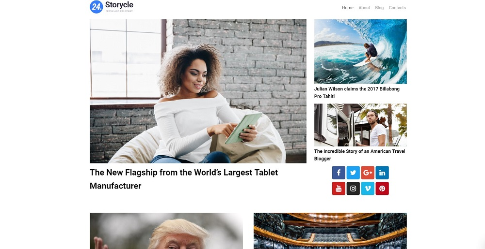 24.Storycle lite - Multipurpose News Portal Elementor WordPress Theme