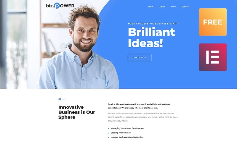 Free WordPress Business Theme WordPress Theme