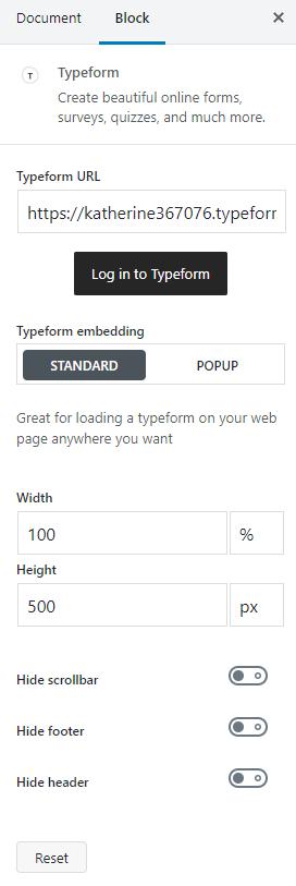 block customization