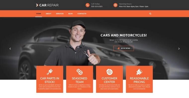 Cars and Bikes WordPress Theme