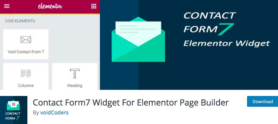 Contact Form7 Widget