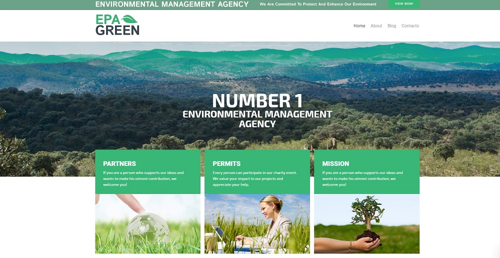 Epa Green Lite - Environmental Responsive WordPress Theme