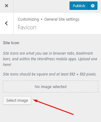wordpress 5.0 favicon