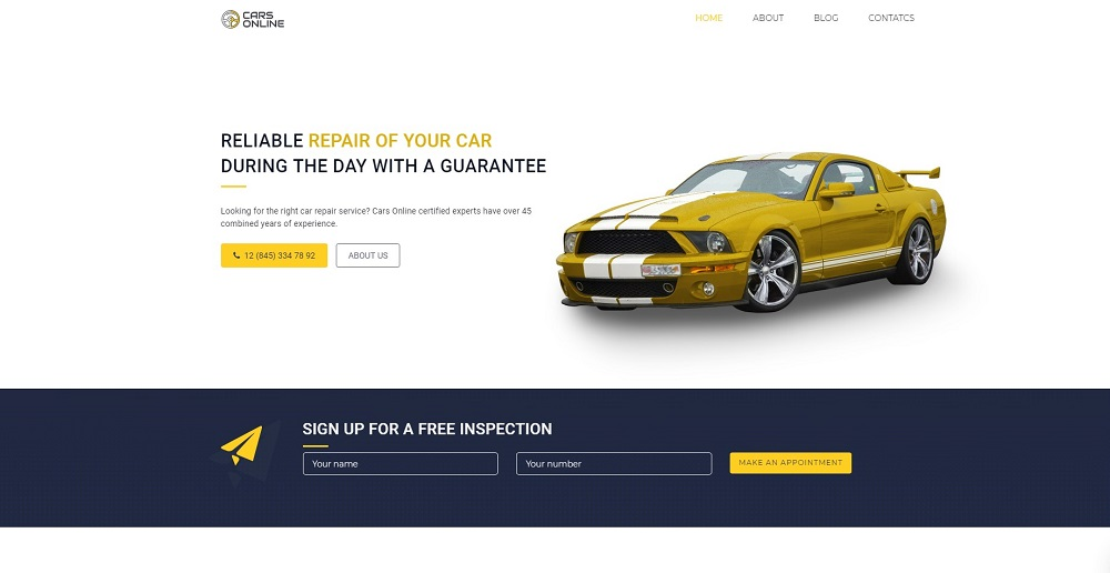Free Car WordPress Theme WordPress Theme