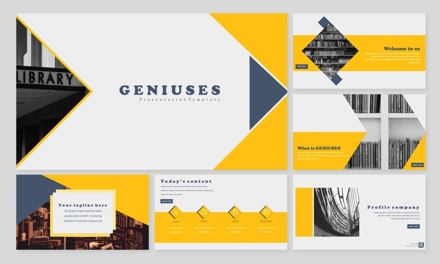 genuises creative powerpoint template