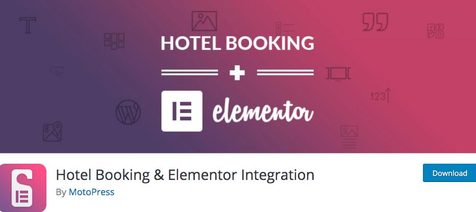 Hotel Booking & Elementor Integration