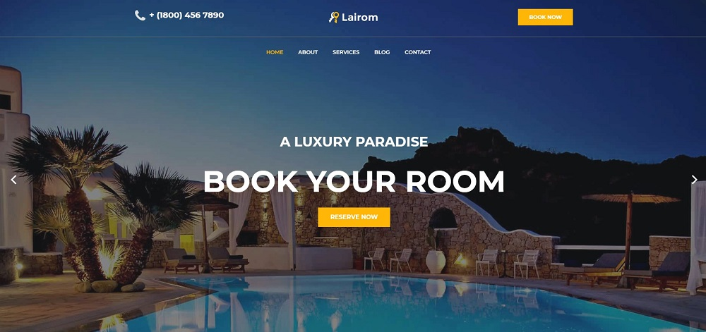 Lairom - Hotel Multipurpose Modern Elementor WordPress Theme