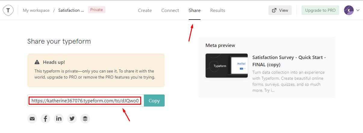 typeform share