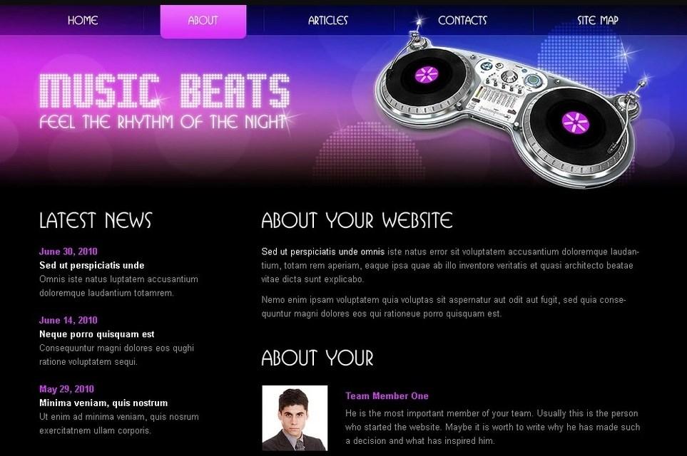 Music Beats Free HTML5/CSS3 Template - Music Website Template